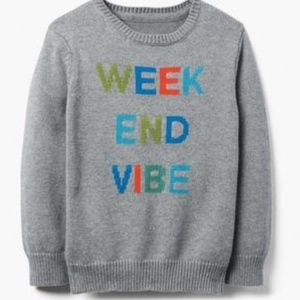 Gymboree Boy's Weekend Vibes Sweater NEW
